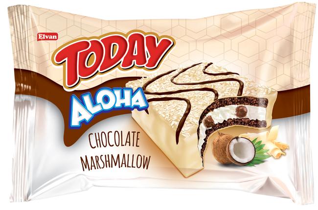 Elvan - Aloha Beyaz Çikolatalı Marshmallowlu 40 Gr. 24 Adet (1 Kutu)