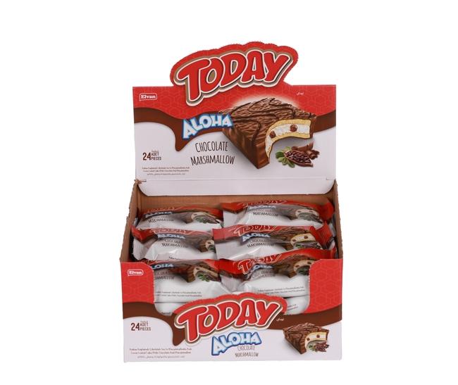 Elvan - Aloha Çikolatalı Marshmallowlu 35 Gr. 24 Adet (1 Kutu)