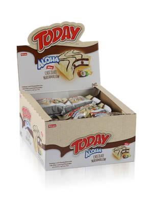 Aloha Mini Beyaz Çikolatalı Marshmallowlu 20 Gr. 24 Adet (1 Kutu)