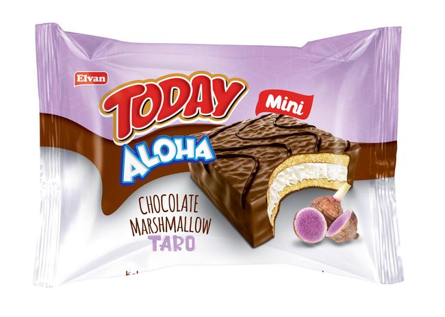 Elvan - Aloha Mini Tarolu Marshmallowlu 20 Gr. 24 Adet (1 Kutu)