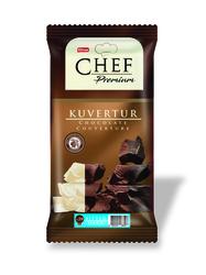 Elvan - Chef Premium Yüzde 59 Kakaolu Mini Bitter Kuvertür 200 Gr. (1 Adet)