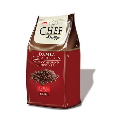 Chef Prestige Sütlü Damla Konfiseri 1000 Gr. (1 Poşet)