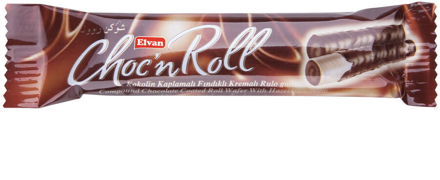 Choc N Roll Kakao Kaplamalı Fındık Kremalı Roll Gofret 18 Gr. 24 Adet (1 Kutu)