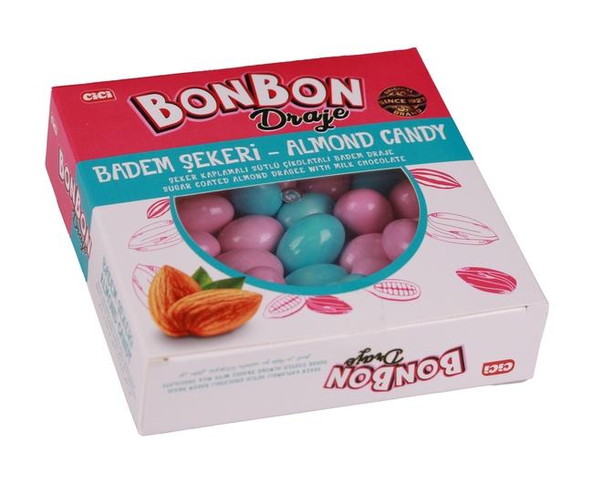 CİCİ - Cici Bonbon Mavi - Pembe Renkli Bademli Draje 150 Gr. (1 Paket)