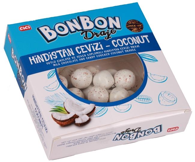 CİCİ - Cici Bonbon Şeker Kaplı Hindistan Cevizli Draje 150 Gr. (1 Paket)