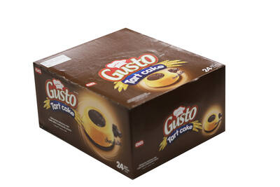 Gusto Tart Kek Çikolata Soslu 50 Gr. 24 Adet (1 Kutu)