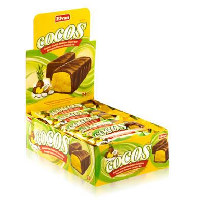 Cocos Ananaslı 24 Gr. 24 Adet (1 Kutu)