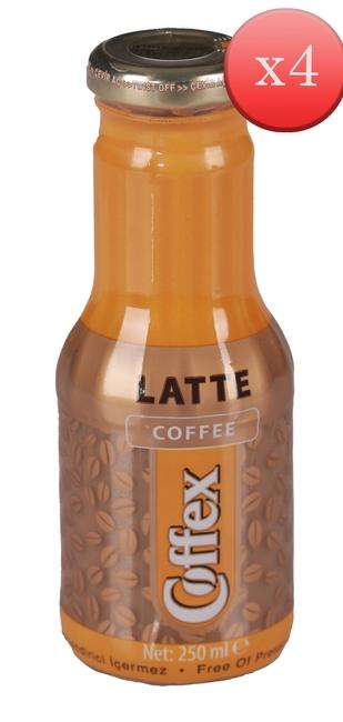 Elvan - Coffex Latte Soğuk Kahve 250 Ml. 4 lü Paket