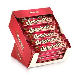 Elvan - Delirium Sütlü Çikolatalı Marshmallowlu Vişneli Bar 28 Gr. 24 Adet (1 Kutu)