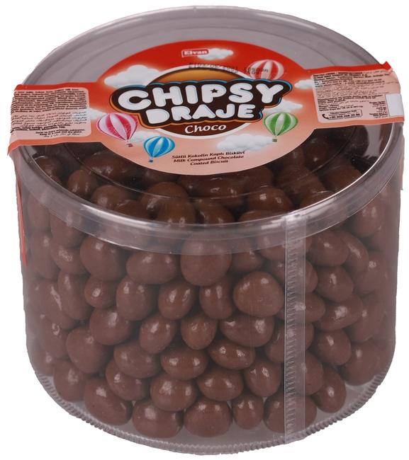 Elvan - Elvan Bonbon Chipsy Kakao Kaplı Bisküvi Draje 750 Gr. (1 Paket)