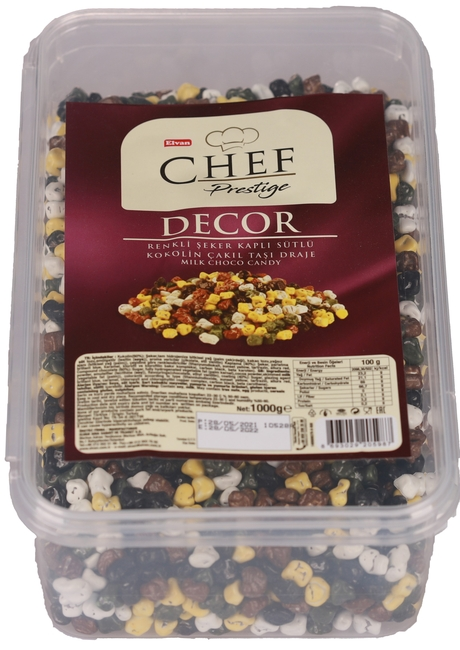 Elvan - Elvan Chef Prestige Çakıltaşı Konfiseri 1000 Gr. (1 Kase)