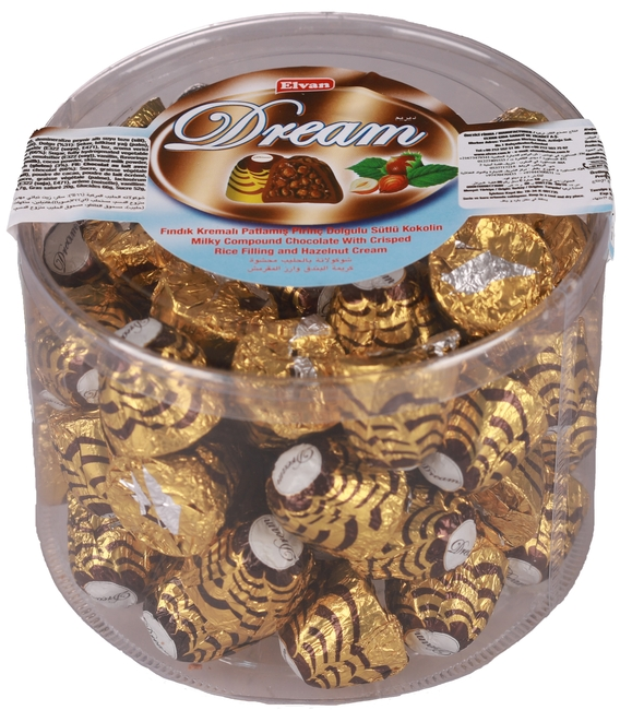 Elvan - Elvan Dream Fındıklı Çikolata 1000 Gr. Silindir (1 Paket)