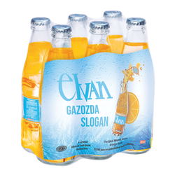 Elvan Gazoz Portakallı 250 ml 6'lı Paket - Thumbnail