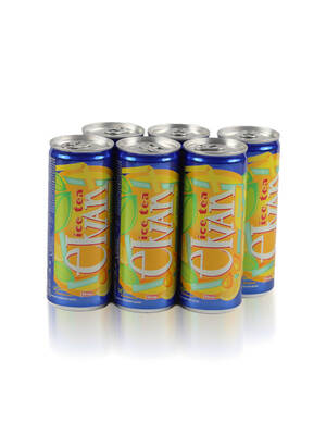 Elvan Ice Tea Teneke Kutu Limon Aromalı Soğuk Çay 6'lı Paket