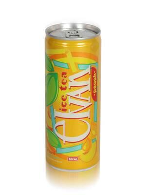 Elvan Ice Tea Teneke Kutu Şeftali Aromalı Soğuk Çay 6'lı Paket