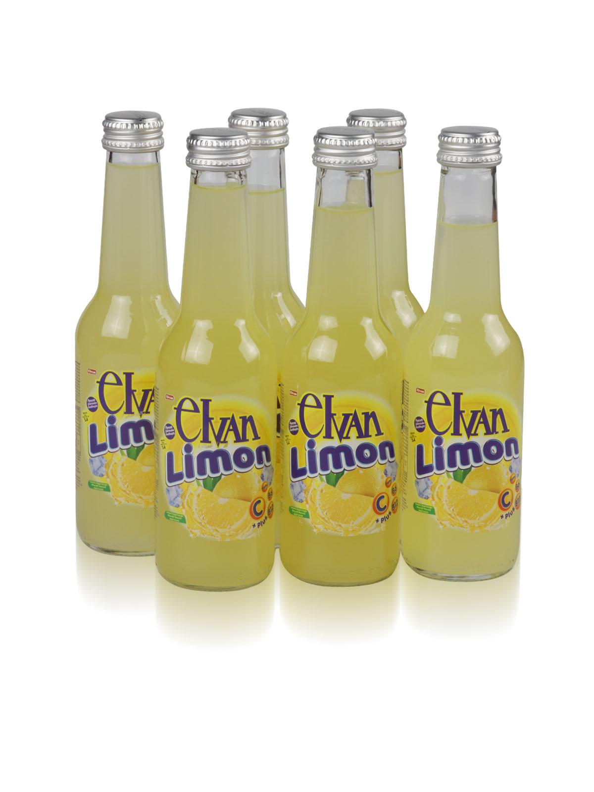 Elvan Soda Limonlu Doğal Zengin Mineralli 250 ML 6'lı Paket