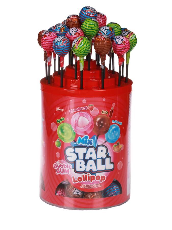 Elvan Starball Lolipop 20 Gr. 80'li (1 Paket)