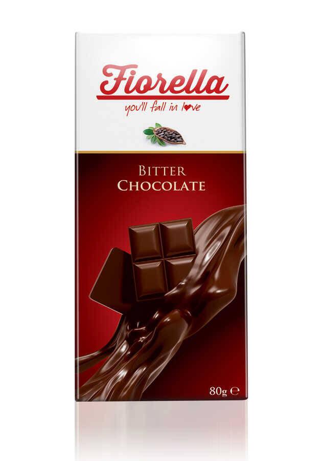 Fiorella Bitter Çikolata Tablet 80 Gr. 1 Adet
