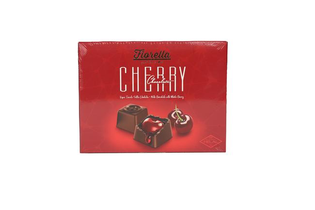 Fiorella - Fiorella Cherry Vişne Taneli Çikolata 140Gr. (1 Paket)