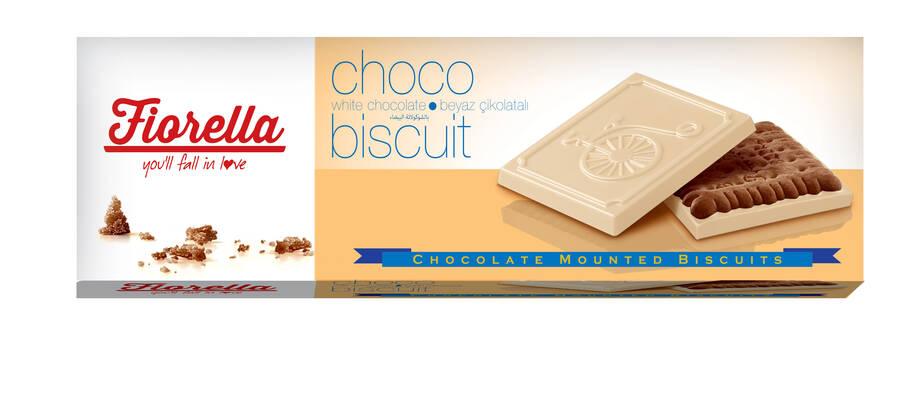 Fiorella Chocobiscuit Beyaz Çikolatalı Kakaolu Bisküvi 102 Gr. 6 Adet (1 Kutu)