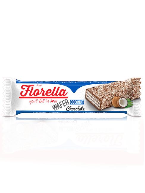 Fiorella - Fiorella Çikolata Kaplamalı Hindistan Cevizli Gofret 30 Gr. 1 Adet