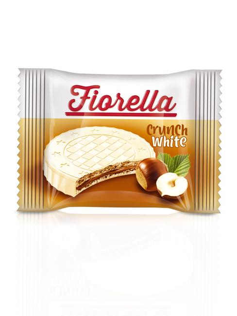 Fiorella Crunch Beyaz Çikolatalı Gofret 20 Gr. 24'lü (1 Paket) - Thumbnail