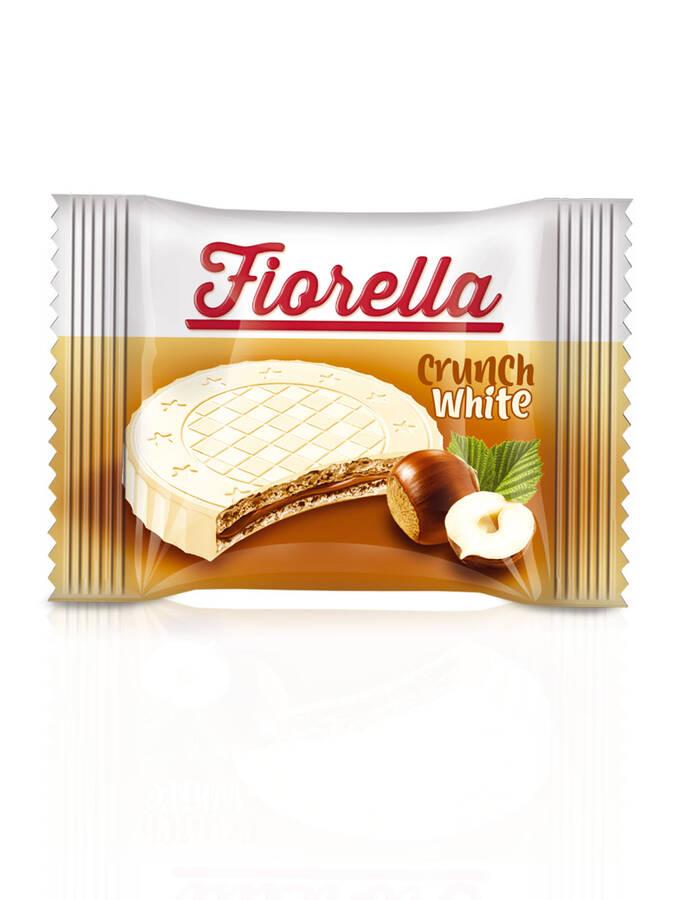 Fiorella Crunch Beyaz Çikolatalı Gofret 20 Gr. 24'lü (1 Paket)