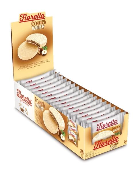 Fiorella - Fiorella Crunch Beyaz Çikolatalı Gofret 20 Gr. 24'lü (1 Paket)