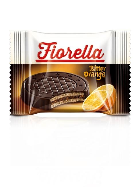 Fiorella - Fiorella Crunch Bitter Çikolatalı Portakal Kremalı Gofret 20 Gr. 1 Adet