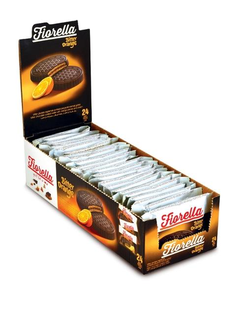 Fiorella - Fiorella Crunch Bitter Çikolatalı Portakal Kremalı Gofret 20 Gr. 24'lü (1 Paket)