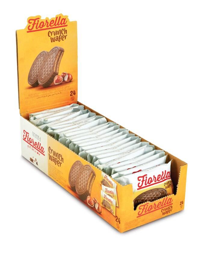 Fiorella Crunch Çikolatalı Gofret 20 Gr. 24'lü (1 Paket)