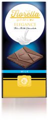Fiorella - Fiorella Elegance Sütlü Çikolatalı Tablet 70 Gr. 10'lu (1 Kutu)