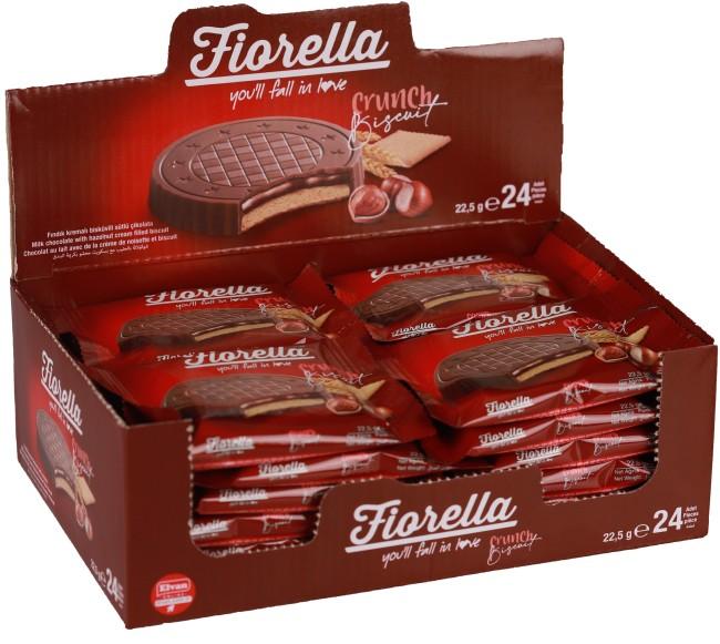 Fiorella - Fiorella Fındık Kremalı Çikolatalı Bisküvi 22,5 Gr. 24'lü (1 Kutu)