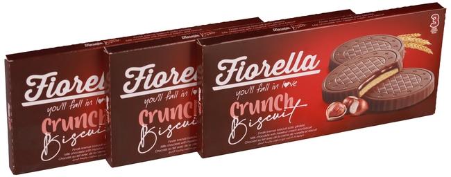 Fiorella - Fiorella Fındık Kremalı Çikolatalı Bisküvi 22,5 Gr. 3 lü (3 Paket)