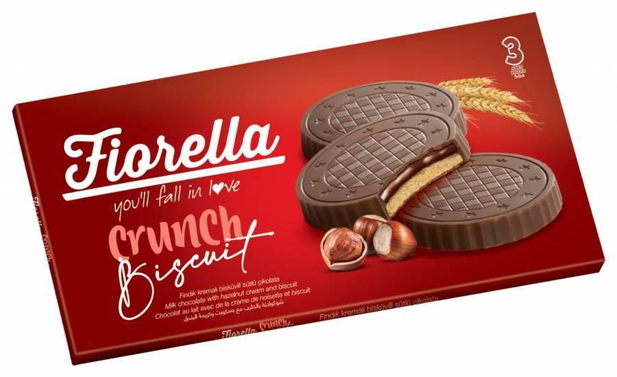 Fiorella Fındık Kremalı Çikolatalı Bisküvi 22,5 Gr. 3 lü (3 Paket)