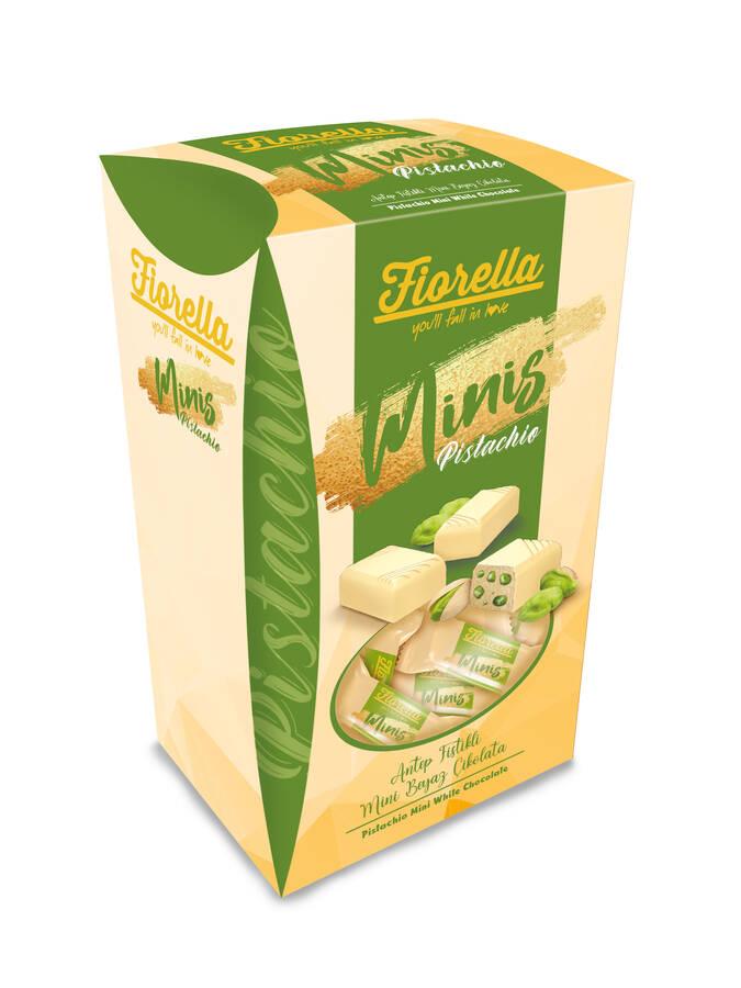 Fiorella Minis Beyaz Çikolatalı Fıstıklı 173 Gr. (1 Kutu)