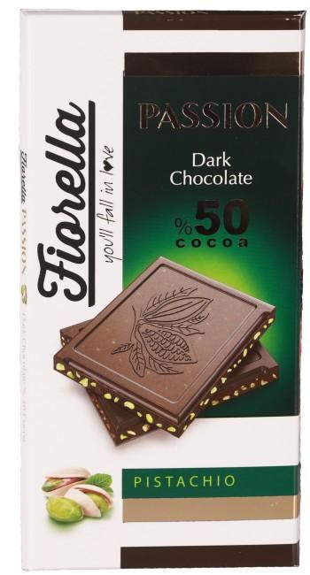 Fiorella - Fiorella Passion Fıstıklı Bitter Tablet Çikolata 100 Gr. 1 Adet