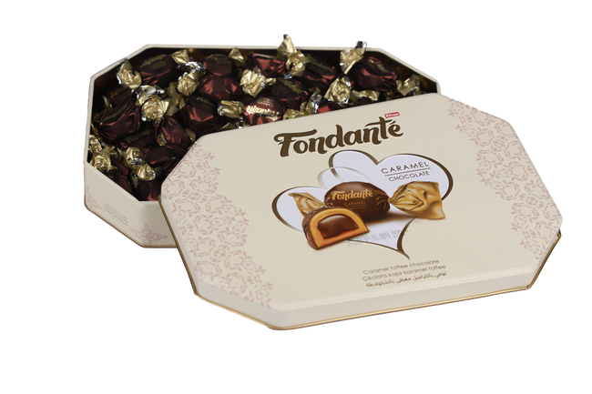 Fondante Caramel Toffee 500 Gr. (1 Teneke Kutu) - Thumbnail