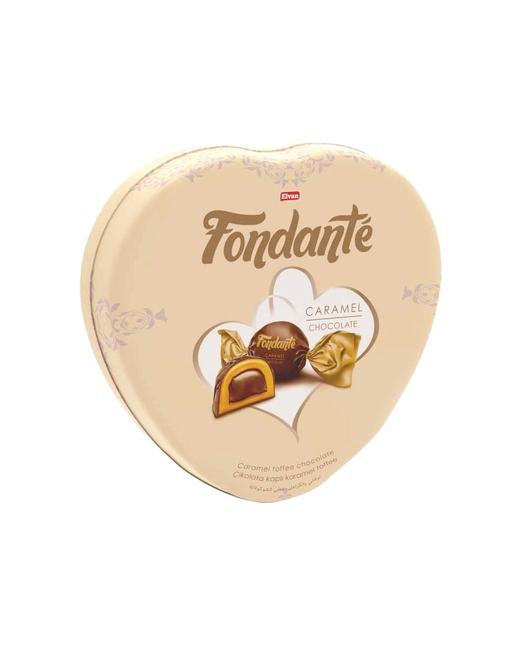 Fondante - Fondante Caramel Toffee Kalp Kutu 300 Gr. (1 TENEKE KUTU)