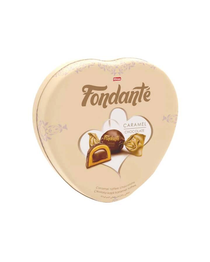 Fondante Caramel Toffee Kalp Kutu 300 Gr. (1 TENEKE KUTU)