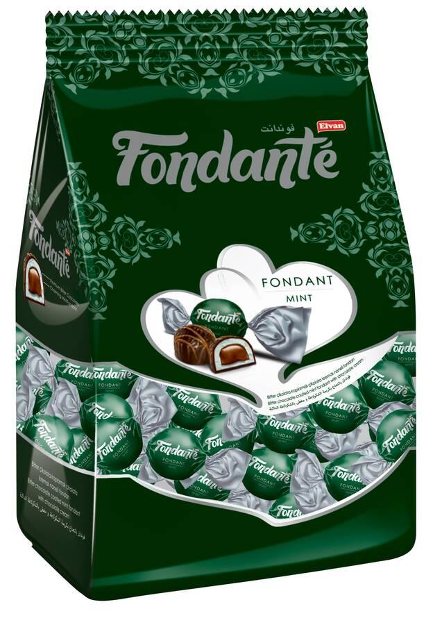 Fondante Çikolata Dolgulu Naneli 1000 Gr. (1 Poşet)