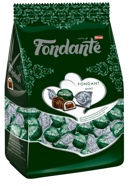 Fondante - Fondante Çikolata Dolgulu Naneli 500 Gr. (1 Poşet)