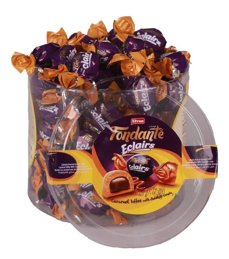 Fondante Eclairs Caramel Toffee 1000 Gr. (1 Silindir)