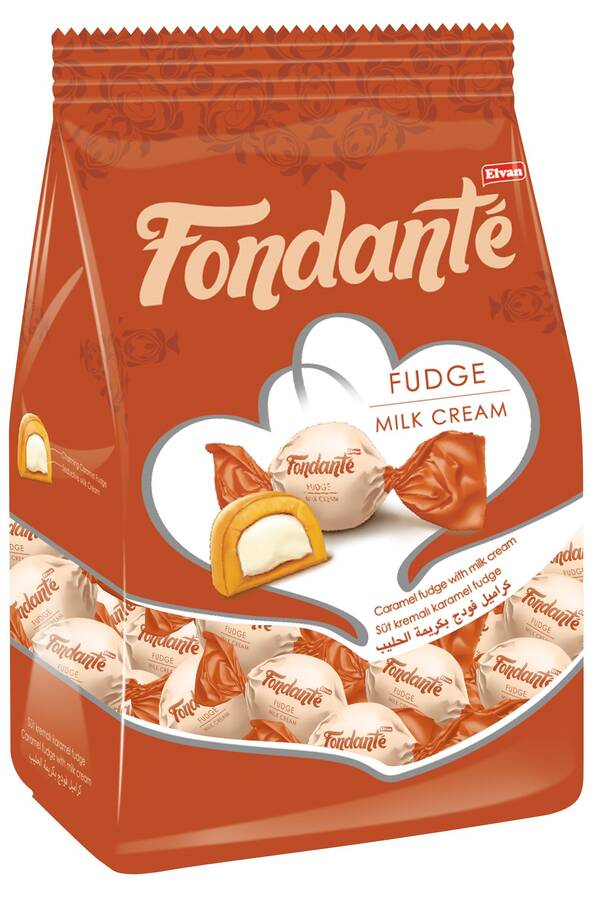Fondante Sütlü Fudge 1000 Gr. (1 Poşet)