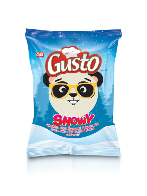 CİCİ - Gusto Snowy Cake Hindistan Cevizli 50 Gr. 24 Adet (1 Kutu)