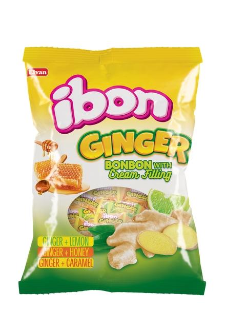 Elvan - Ibon Ginger Zencefilli Şeker 1000 Gr. (1 Poşet)