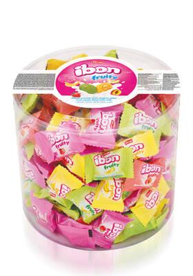 Ibon Sütlü Meyveli Şeker 1000 Gr. Silindir (1 Kutu)