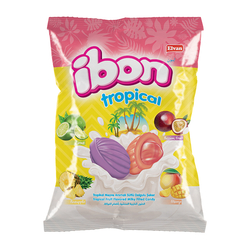 Elvan - Ibon Tropical Sütlü Meyveli Şeker 1000 Gr. (1 Poşet)