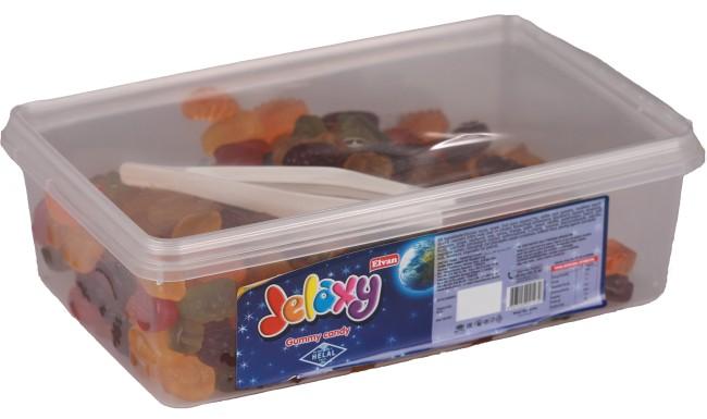 Elvan - Jelaxy Kase Meyve Bahçesi Yumuşak Şeker 1000Gr. (1 Kase)