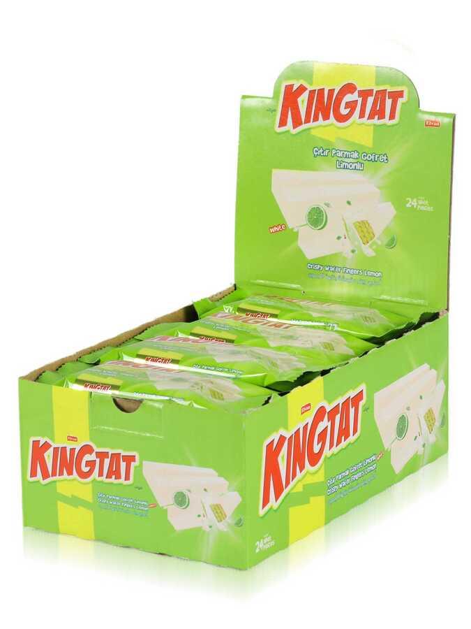 King Tat Limon Kaplamalı Gofret 30 Gr. 24 Adet (1 Kutu)